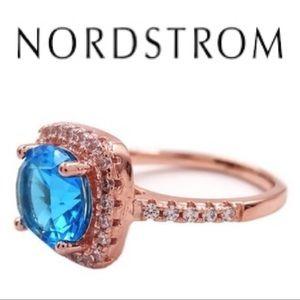 18K Rose Gold Halo Ring